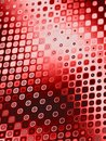 Retro Patterns - Red Circles Royalty Free Stock Photo