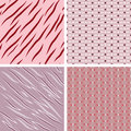 Retro patterns set of seamless Stock Image