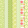 Retro patterns set of in shabby chic style Royalty Free Stock Photography