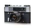 Retro photo camera isolated on a white background Royalty Free Stock Photos