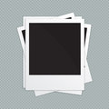 Retro photo frames. Vector illustration Royalty Free Stock Photo
