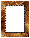 Retro photo framework on old paper, filmstrip Royalty Free Stock Photography