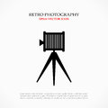 Retro photo symbol camera vector Stock Photos