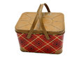 Retro picnic basket Royalty Free Stock Photo