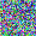 Retro pixel multicolored abstract pattern Stock Photography