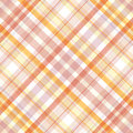 Retro plaid pattern beige pink white and orange Stock Photo