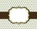 Retro polka dot background Royalty Free Stock Photo