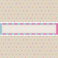 Retro polka dot with banner Royalty Free Stock Photography