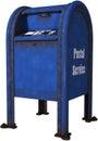 Retro Postal Service Mailbox Isolated Royalty Free Stock Photo