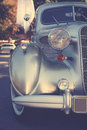 Retro postcard of the vintage car Royalty Free Stock Photo