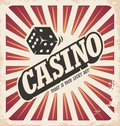 Retro poster design for casino Royalty Free Stock Photo