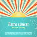 Retro poster design vector clip art Royalty Free Stock Photography