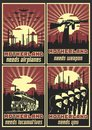 Motherland Needs... Retro Patriotic War Propaganda Posters