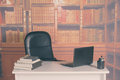 Retro in the president s office empty sit Royalty Free Stock Photos