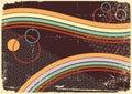 Retro priorità bassa di Abstract.Vintage Immagini Stock Libere da Diritti
