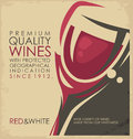 Retro promotional material for winery or wine shop Royalty Free Stock Photo