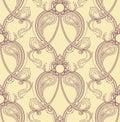 Retro purple pattern beautiful natural seamless on a yellow background Stock Photography