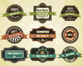 Retro quality labels Royalty Free Stock Photos