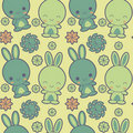 Retro rabbits background Royalty Free Stock Photography