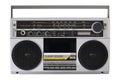 Retro radio from the 80s Royalty Free Stock Photo