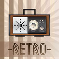 Retro radio background with old fashioned and with inscription Royalty Free Stock Images