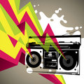 Retro radio banner. Stock Photography