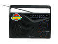 Retro radio black fm am with isolated background Stock Images