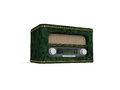 Retro radio dell'illustrazione 3d Immagine Stock