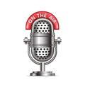 Retro radio microphone with