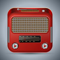 Retro radio the receiver vector illustration Royalty Free Stock Image