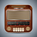 Retro radio the receiver vector illustration Stock Photos
