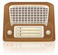 Retro radio vector illustration Stock Photography