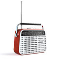 Retro radio on white Royalty Free Stock Photo