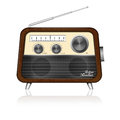 Retro radio on white background Stock Photo