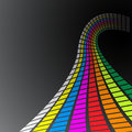 Retro rainbow waves Stock Images