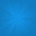 Retro rays comic blue background. Royalty Free Stock Photo