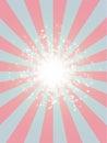 Retro Rays grunge texture stars starburst halftone Background pink blue Royalty Free Stock Photo