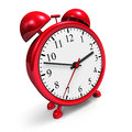 Retro red alarm clock Royalty Free Stock Photo