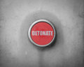 Retro Red Detonate Button Royalty Free Stock Photo