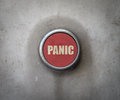 Retro red industrial panic button a filteredimage of an inductrial style Stock Image