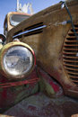 Retro REO Speed Wagon Rusty Truck Front End