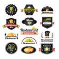 Retro restaurant logotypes set