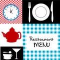 Retro restaurant menu Royalty Free Stock Photo