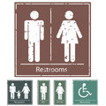 Retro Restroom Signs Royalty Free Stock Photo