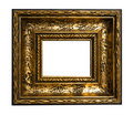 Retro Revival Old Gold Frame Stock Photography