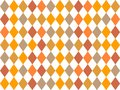Retro rhombus background design. Seamless vintage backdrop. Harmonic autumn colors. Royalty Free Stock Photo