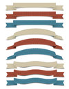Retro Ribbons Stock Photo