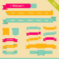 Retro ribbons for web design Royalty Free Stock Images