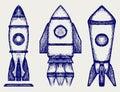 Retro rocket Royalty Free Stock Photo