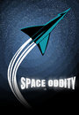 Retro rocket launch. Vintage poster about space travel. Stars and galaxy backdrop. Retro vector design template. Royalty Free Stock Photo